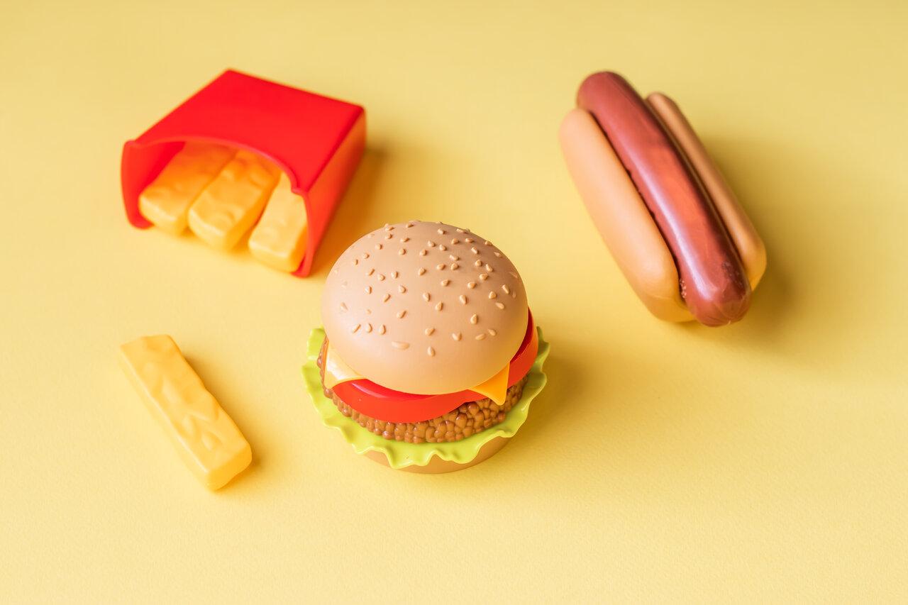 Zabawki w kształcie jedzenia